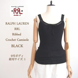 【SALE】【メール便可】【RRL by Ralph Lauren】ラルフローレン DOUBLE RL ダブルアールエル キャミソール/BLACK【あす楽対応】