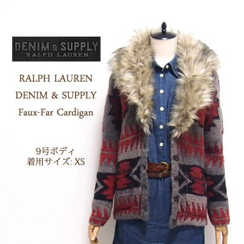 【SALE】【DENIM&SUPPLY by Ralph Lauren】デニム&サプライ ネイティブ柄 ファー付き カーディガン【あす楽対応】セーター