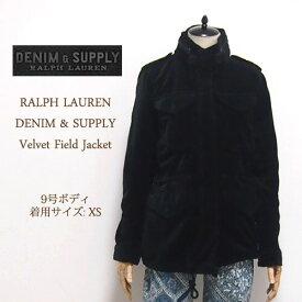 【SALE】 ラルフローレン デニム&サプライ ベルベット フィールドジャケット/ブラックDENIM&SUPPLY by Ralph Lauren Jacket