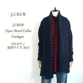 【SALE】【J.CREW】ジェイクルー ショールカラー オープンニット カーディガン/DARK NAVY【あす楽対応】セーター