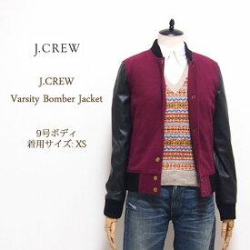 【SALE】【J.CREW】 ジェイクルー スタジアムジャケット/BURGUNDY【あす楽対応】