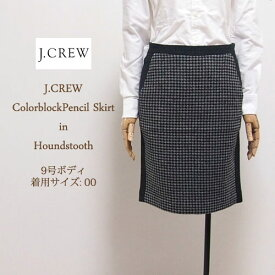 【SALE】【J.CREW】 ジェイクルー ハウンドトゥース ツィードスカート【あす楽対応】