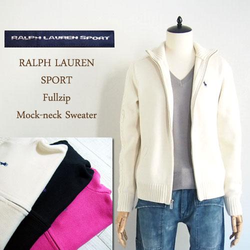 【SALE】【Ralph Lauren SPORT】ラルフローレン スポーツ モックネック ジップアップ コットンセーター/3色【あす楽対応】