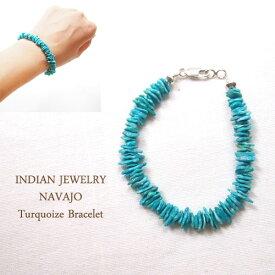 インディアンジュエリー ナバホ ターコイズ ブレスレットINDIAN JEWELRY NAVAJO Turquoise Bangleメール便可