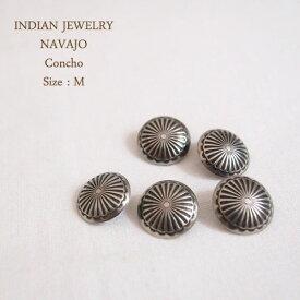 インディアン ジュエリー ナバホ コンチョ スタンプ フラワー Mサイズ 1.7cm/1個INDIAN JEWELRY NAVAJO Conchoメール便可