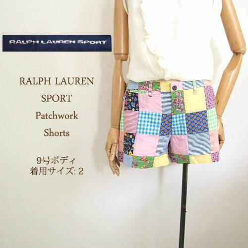 【SALE】ラルフローレン スポーツ レディース パッチワーク ショートパンツRalph Lauren SPORT Patchwork short