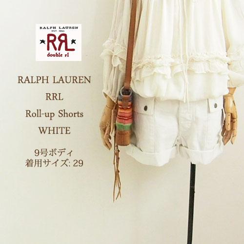 ラルフローレン ダブルアールエル レディース ヘリンボーン ロールアップ ショートパンツ/ホワイトRRL by Ralph Lauren Shorts
