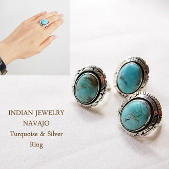 Sterling Silver Navajo silver turquoise ring INDIAN JEWELRY Turquoise Silver Ring