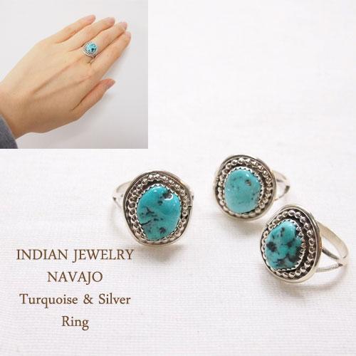 インディアンジュエリー ナバホ シルバー ターコイズ リングINDIAN JEWELRY Turquoise Silver Ringメール便可