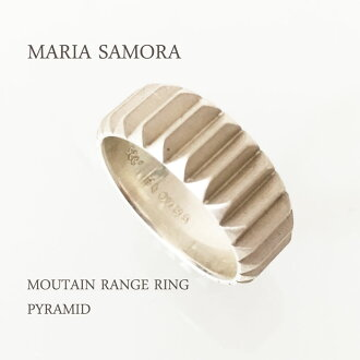 마리아 사 모라 마운틴 레인지 실버 반지 MARIA SAMORA STERLING SILVER MOUNTAIN RANGE RING/PYRAMID