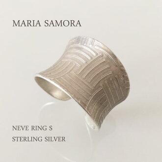 마리아 사 모라 실버 반지 MARIA SAMORA NEVE RING S STERLING SILVER