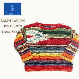 ラルフローレン ポロ キッズ ハンドニット マルチカラー ネイティブ ニット セーター/マルチPOLO by Ralph Lauren Kid's Knit Top