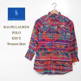 ラルフローレン キッズ ガールズ ネイティブ マルチプリント シャツRalph Lauren Kid's Shirt