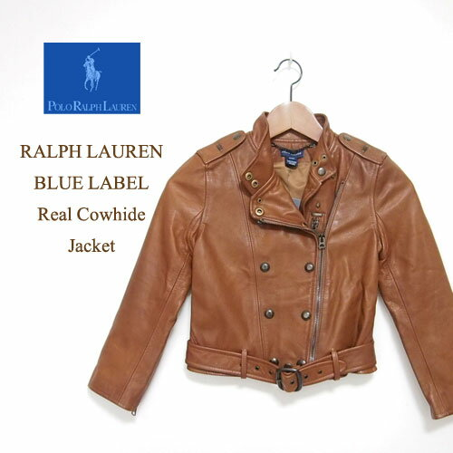 ラルフローレン キッズ ガールズ ライダース レザー ジャケット/ブラウンRalph Lauren Leather Jacket