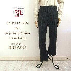【SALE】 ラルフローレン ダブルアールエル レディース ストライプ ウール パンツRRL by Ralph Lauren Wool Pant