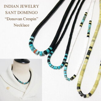 "Sterling Silver Santo Domingo ""DONOVAN CRESPIN"" chestnut necklace INDIAN JEWELRY SANT DOMINGO Necklace"