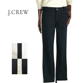 SPECIAL PRICE♪【SALE】【J.CREW】ジェイクルー サイドライン コットンパンツ/2色【あす楽対応】