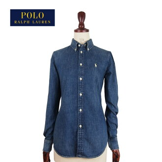 8cbf983229 NAVIE  A packet to say Ralph Lauren polo Lady s pony one point custom  fitting denim shirt   indigo POLO by Ralph Lauren is possible
