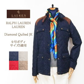 【SALE】【LAUREN by Ralph Lauren】 ラルフローレン ローレン ベルト付 キルティング ジャケット/4色【あす楽対応】