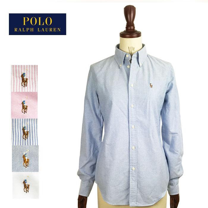 ゆうパケット全国送料無料 ラルフローレン レディース カスタムフィット オックスフォード ボタンダウン シャツ Ralph Lauren Oxford Shirts Custom Fit