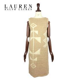 ラルフローレン ローレン レディース ネイティブ ニット ワンピース/ベージュLAUREN by Ralph Lauren Dress