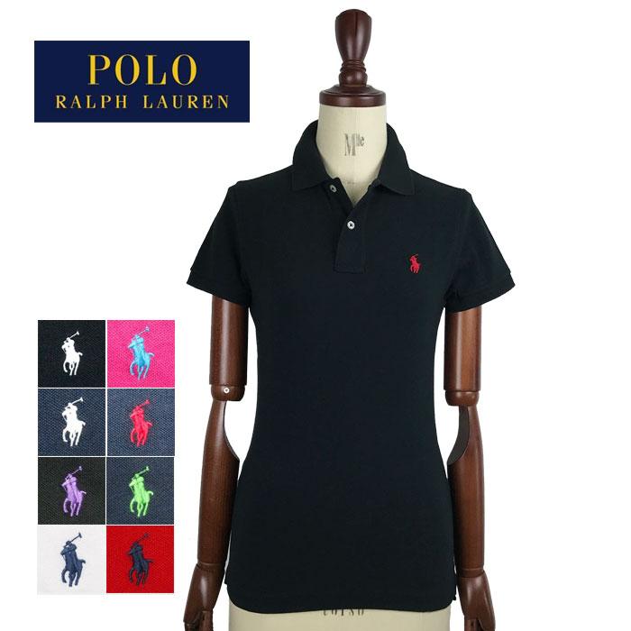 ラルフローレン レディース ポニーワンポイント刺繍 スキニーフィット ポロシャツRalph Lauren Skinny Fit Polo Shirtメール便可可