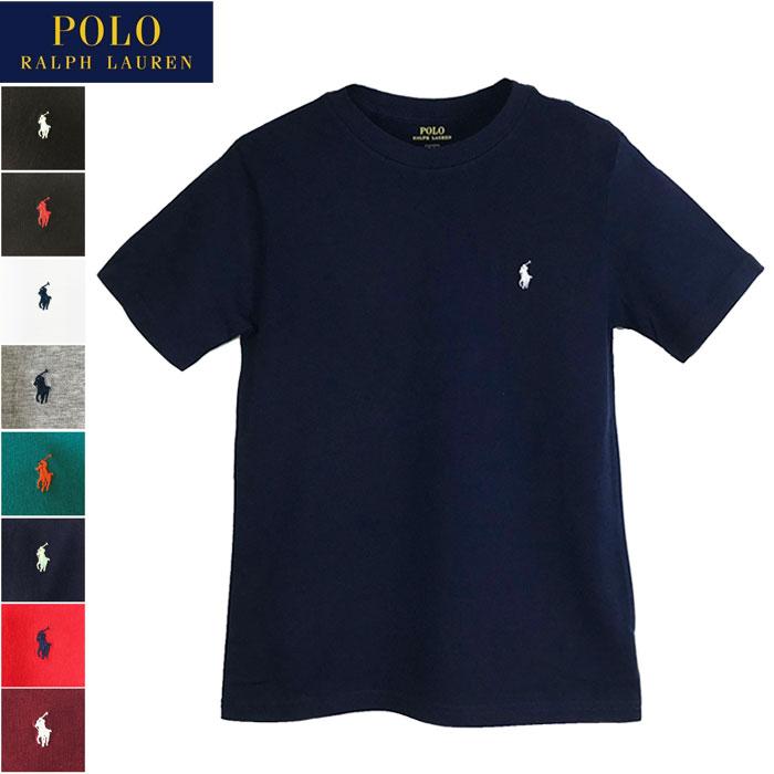 メール便送料無料 ポロ ラルフローレン キッズ ボーイズサイズ クルーネック 半袖 Tシャツ POLO Ralph Lauren レディース メンズ 対応サイズ