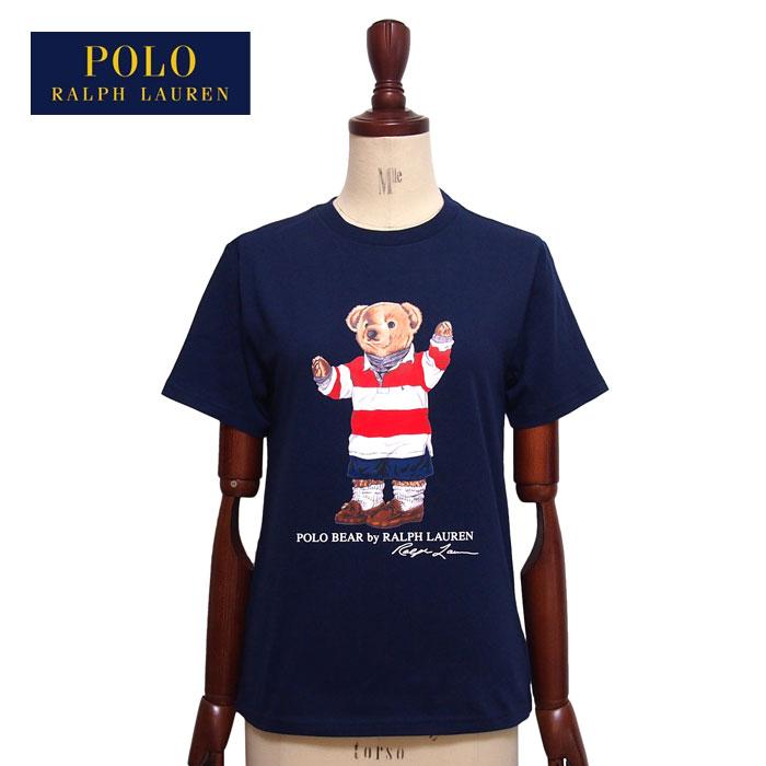 ラルフローレン ポロ ボーイズ ポロベアー ラガーシャツスタイル クルーネック Tシャツ/ネイビーPOLO Ralph Laurenメール便可
