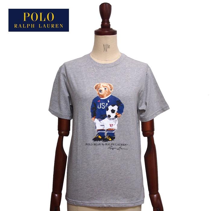 ラルフローレン ポロ ボーイズ ポロベアー サッカー クルーネック Tシャツ/グレーPOLO Ralph Laurenメール便可