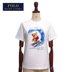 ラルフローレン ポロ ボーイズ ポロベアー サーフィン クルーネック Tシャツ/ホワイトPOLO Ralph Laurenメール便可