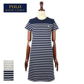 ラルフローレン ポロ レディース ポニーワンポイント ボーダー クルーネック Tシャツ ワンピースPOLO Ralph Lauren Dressメール便可