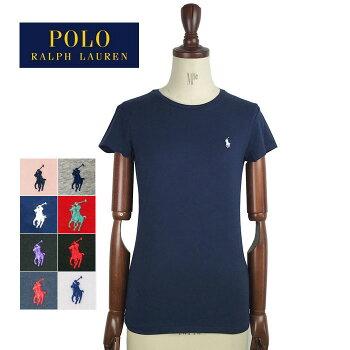 【メール便送料無料!】SALEラルフローレンポロレディースコットンソリッドクルーネックTシャツPOLObyRalphLaurenT-Shirtメール便可
