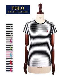 ラルフローレン ポロ レディース コットン クルーネック ボーダー Tシャツ/ブラック/ネイビー/グレー/ピンクPOLO by Ralph Lauren T-Shirtメール便可