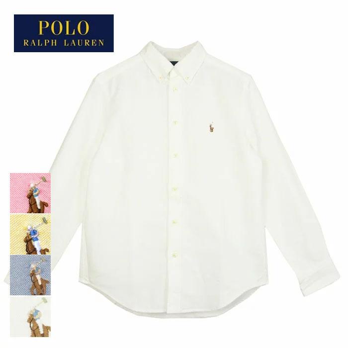【ゆうパケット送料無料!】ラルフローレン キッズ ボーイズ ポニーワンポイント オックスフォード ボタンダウン シャツ/ホワイト/ブルーPOLO by Ralph Lauren KID'S BOY'S Oxford Shirtゆうパケット可