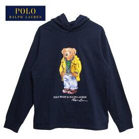 ラルフローレン ポロ キッズ ボーイズ ポロベアー フード付き 長袖 Tシャツ ロンT/ネイビーPOLO KID'S BOY'S Ralph Laurenメール便可