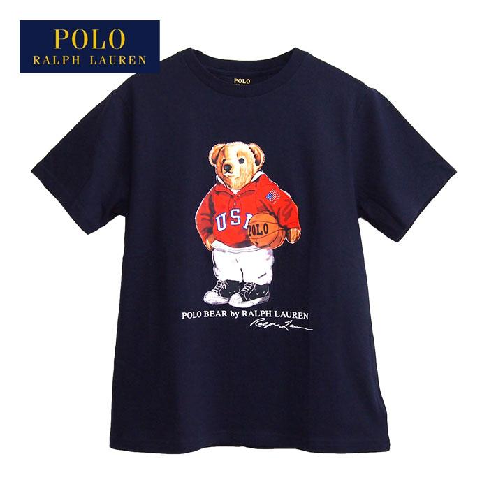 ラルフローレン ポロ ボーイズ ポロベアー スポーツ バスケット クルーネック Tシャツ/ホワイトPOLO Ralph Laurenメール便可