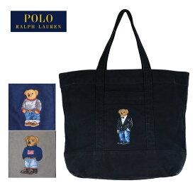 ラルフローレン ポロ ポロベアー キャンバス トートバック/ブラック/グレーPOLO Ralph Lauren Tote Bag