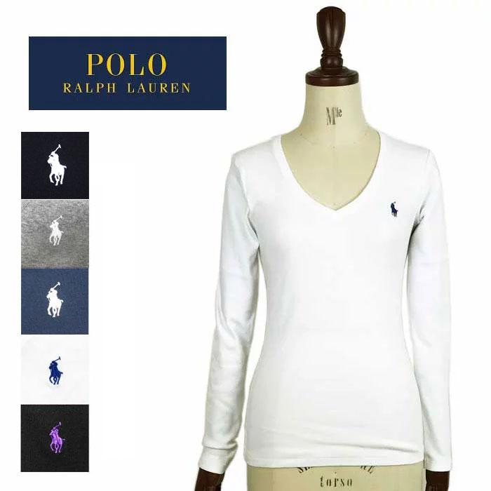 ポロ ラルフローレン レディース 長袖 Tシャツ Vネック カットソー ロンT 長袖 女性用 POLO Ralph Lauren ゆうパケット可