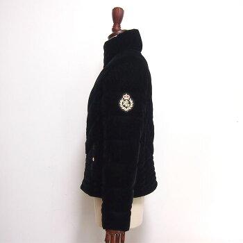 【難あり・アウトレット】ラルフローレンローレンレディースベロア中綿キルティングジャケットコート/ブラックLAURENRalphLaurenJacket