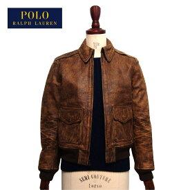 ラルフローレン ポロ レディース 牛革 レザージャケット フライトジャケット/ブラウンPOLO Ralph Lauren Jacket