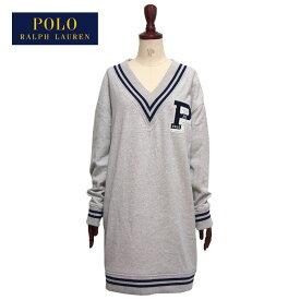 ラルフローレン ポロ レディース チルデン クリケット スウェット ワンピース/グレーPOLO Ralph Lauren Dress