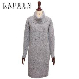 ラルフローレン ローレン レディース ミックスニット タートルネック ニット ワンピース/グレー系LAUREN Ralph Lauren Knit Dress
