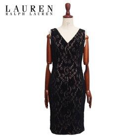ラルフローレン ローレン レディース ベロア レース ノースリーブ ドレス ワンピース/ブラックLAUREN Ralph Lauren Dress