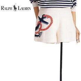 OUTLET SALE ラルフローレン ブルーレーベル 錨プリント ショートパンツ/サイズ10Ralph Lauren