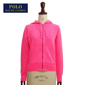 OUTLET SALE ラルフローレン ポロ ピンクポニー レディース ジップアップ スウェット パーカー/ピンクPOLO by Ralph Lauren PINK PONY