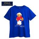 ラルフローレンポロボーイズポロベアービーチスタイルクルーネックTシャツ/ブルーPOLORalphLaurenBoy'sT-shirtメール便可