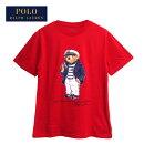 ラルフローレンポロボーイズポロベアーマリンクルーネックTシャツ/レッドPOLORalphLaurenBoy'sT-shirtメール便可