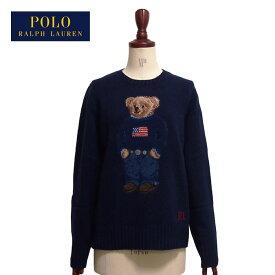 ラルフローレン ポロ レディース 50周年 ポロベアー ウール ニット セーター/ネイビーPOLO Ralph Lauren 50th Knit Top