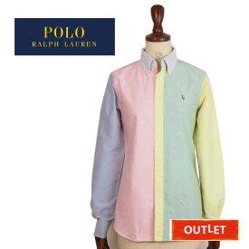 【難あり・アウトレット】ラルフローレン レディース カスタムフィット マルチカラー オックスフォード ボタンダウン シャツPOLO Ralph Lauren custom fit BD shirts