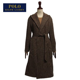 ラルフローレン ポロ レディース ヘリンボーン ツイード ラップコート ガウン/ブラウンPOLO Ralph Lauren Coat
